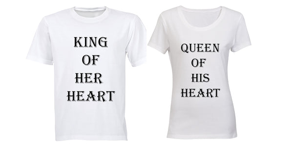 King & Queen of the Heart - Couples Tees