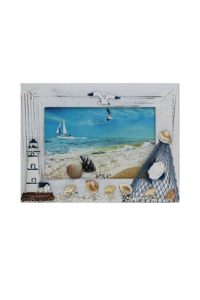 Landscape Nautical Photo Frame with a Lighthouse