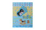 Blue Baby Footprint, Baby Photo Album - BuyAbility