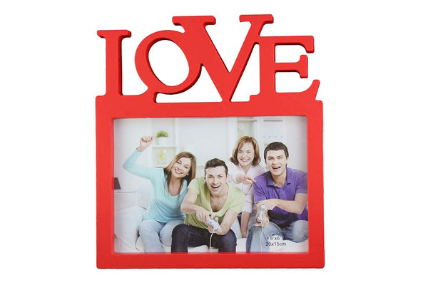 'LOVE' Single Photo - Photo Frame, Red