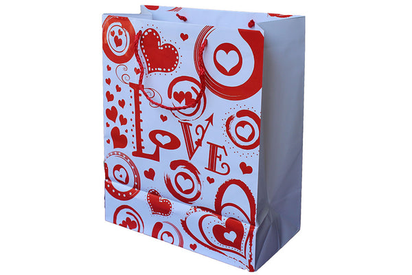 White and Red 'Love' Gift Bag - BuyAbility