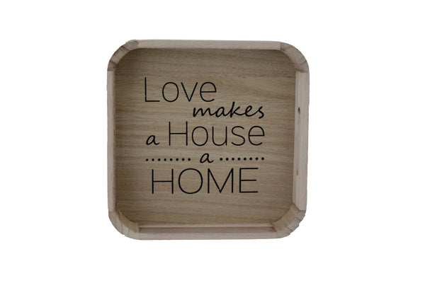Love Makes a House a Home Square Bamboo Tray - BuyAbility South Africa