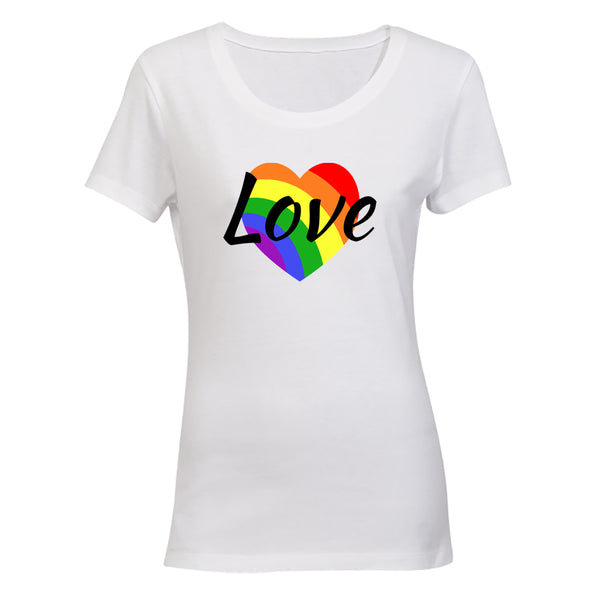 Love Heart, Pride - Ladies - T-Shirt - BuyAbility South Africa