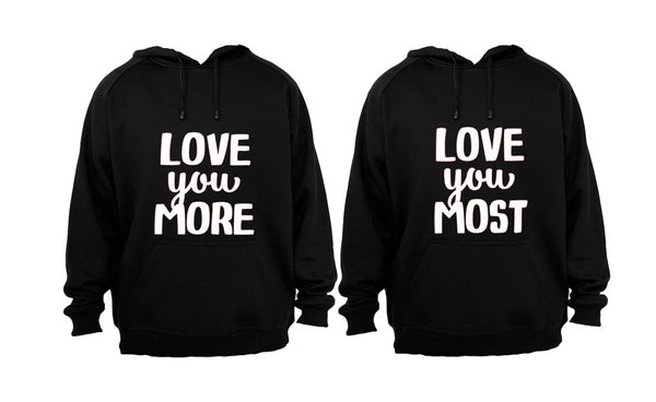Love you More, Love you Most - Couples Hoodies (1 Set) - BuyAbility South Africa