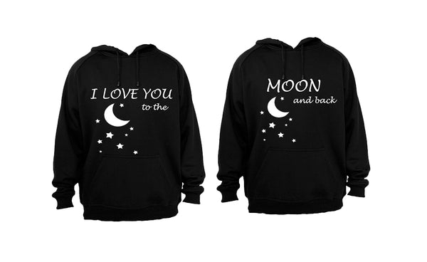I Love you to the Moon & Back - COUPLES HOODIES (1 SET) - BuyAbility South Africa