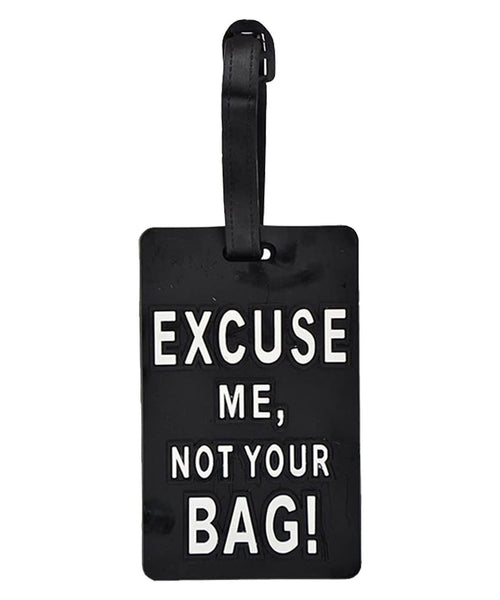 Black Luggage Travel Tag