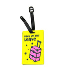 Yellow Luggage Travel Tag