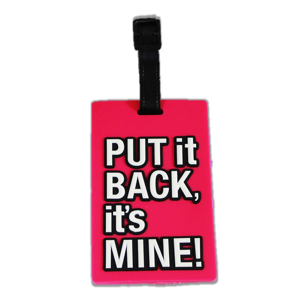 Pink Luggage Travel Tag