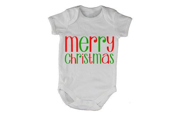 Merry Christmas - Colourful - Baby Grow - BuyAbility South Africa