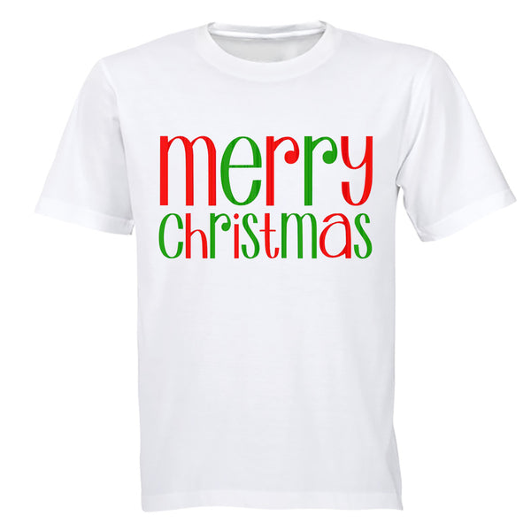 Merry Christmas - Colourful - Adults - T-Shirt - BuyAbility South Africa