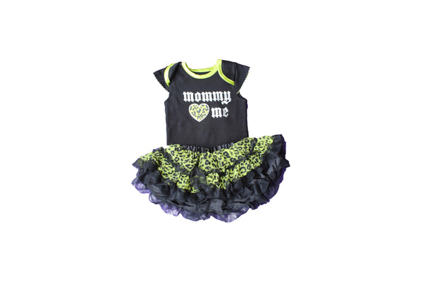 Black & Green, Mommy Loves Me Leopard Print Outfit - BuyAbility South Africa