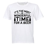 Most Wonderful Time for a BEER - Christmas - Adults - T-Shirt - BuyAbility South Africa
