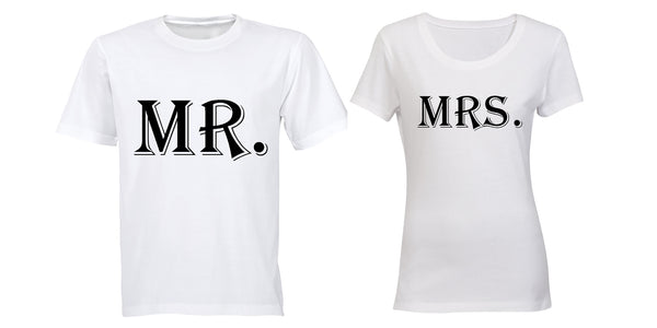 Mr & Mrs - Couples Tees