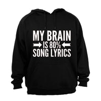 My Brain is 80% Song Lyrics - Hoodie - BuyAbility South Africa