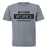 My Code Works! - Adults - T-Shirt - BuyAbility South Africa
