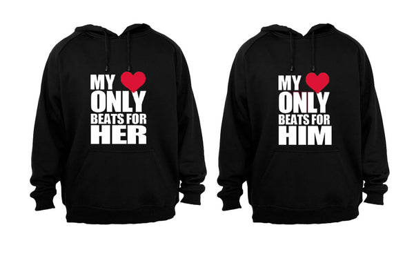 My Heart Only Beats For.. - Couples Hoodies (1 Set) - BuyAbility South Africa