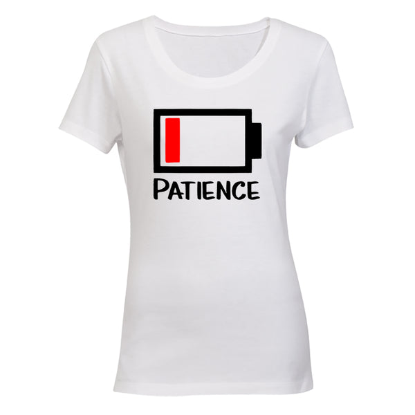 Patience - Battery Levels - Ladies - T-Shirt - BuyAbility South Africa