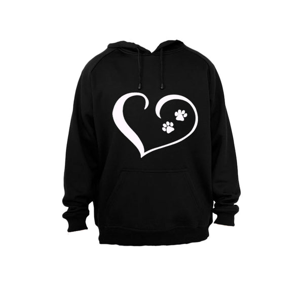 Paw Prints on my Heart! - Hoodie - BuyAbility South Africa