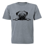 Peeking Pug - Kids T-Shirt - BuyAbility South Africa