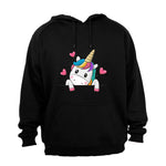 Peeking Unicorn - Hoodie - BuyAbility South Africa