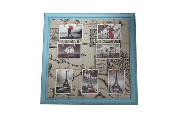 Blue North Pacific Ocean Inspired Peg Line Photo Frame - BuyAbility
