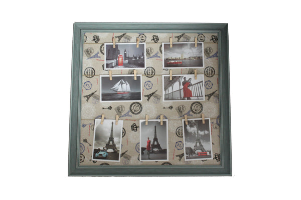 Green Eiffel Tower Inspired Peg Line Photo Frame - BuyAbility
