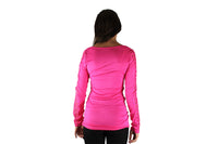 Pink Long Sleeve Top With Lace Sleeves & Gold Bar - BuyAbility South Africa