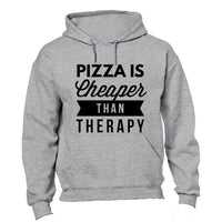 Pizza is Cheaper than Therapy - Hoodie - BuyAbility South Africa