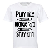 Play Nice. Work Hard - Kids T-Shirt - BuyAbility South Africa