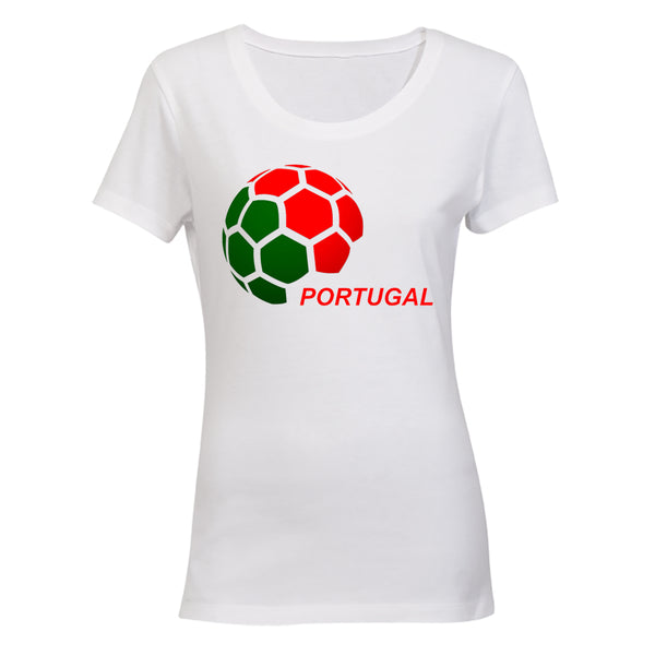 Portugal - Soccer Ball - Ladies - T-Shirt - BuyAbility South Africa