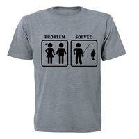 Problem Solved - Fishing! - Adults - T-Shirt