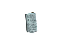 Blue Compact Purse with Newspaper Design & Bird Detail (150mm x 90mm) - BuyAbility South Africa