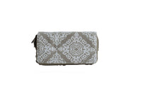 Large Purse with Beige Crest Pattern (200mm x 100mm) - BuyAbility South Africa