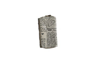 Beige Large Purse with Newspaper Design & Protea Detail - BuyAbility South Africa