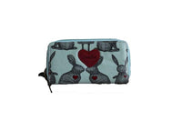 Blue Large Purse with Rabbit Design (200mm x 100mm) - BuyAbility