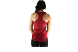 Red Full Lace Back Top with Front Zip - BuyAbility South Africa
