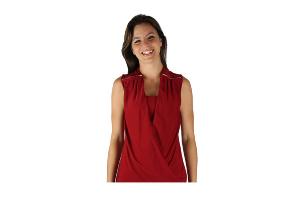 Red Top with Shoulder Zips - BuyAbility South Africa