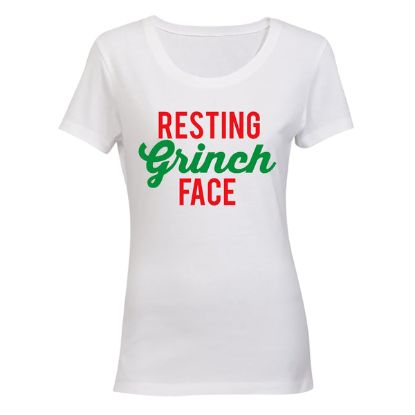 Resting Grinch Face - Christmas - Ladies - T-Shirt - BuyAbility South Africa