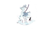 Handmade Silver Rocking Horse Christmas Tree Decoration