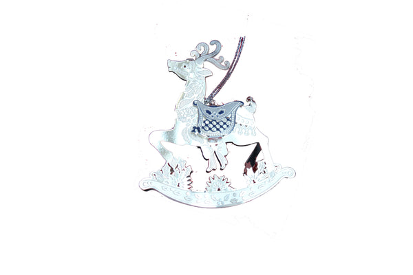 Handmade Silver Rocking Horse Christmas Tree Decoration - BuyAbility South Africa