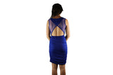 Royal Blue Cocktail Dress with Sparkle - BuyAbility South Africa