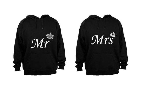 Royal Mr & Mrs - Couples Hoodies (1 Set) - BuyAbility South Africa