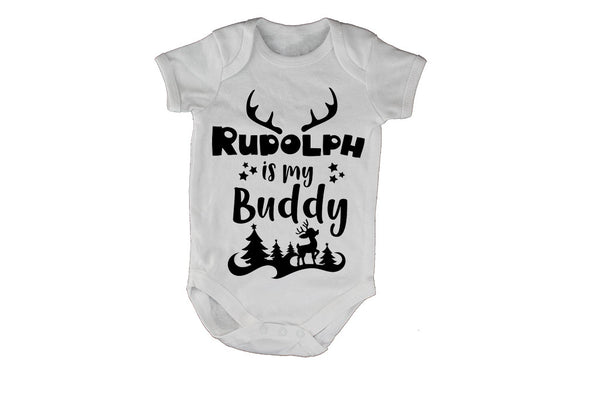 Rudolph is my Buddy - Christmas - Baby Grow - BuyAbility South Africa