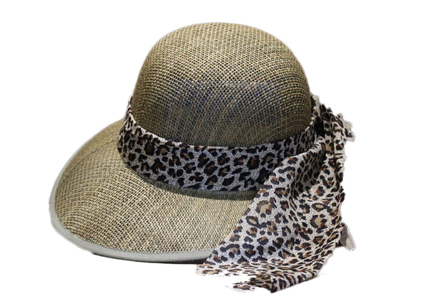 Safari Hat with Brown Leopard Print