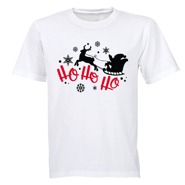 Santa, Ho Ho Ho - Christmas - Adults - T-Shirt - BuyAbility South Africa