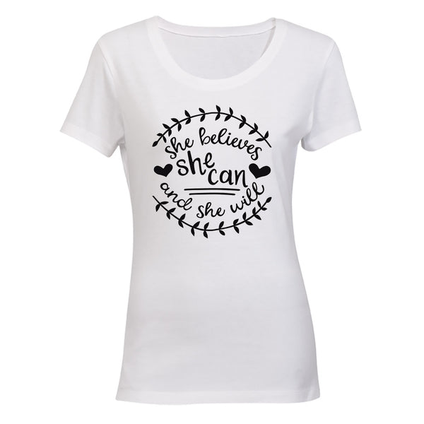 She Believes She Can - Ladies - T-Shirt - BuyAbility South Africa