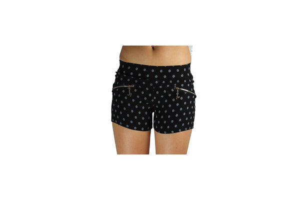 Black Women's Shorts With White Polka dots - BuyAbility South Africa