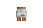 White Women's Shorts With Black Polka dots