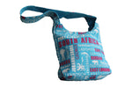 Blue Shoulder Bag With Cities Print - BuyAbility