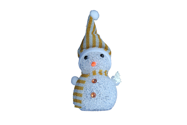 Snow Man Christmas Light Decoration (Standing at 130mm)